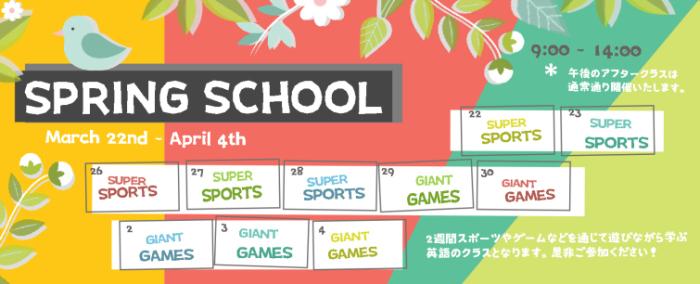 Spring School Banner 2018